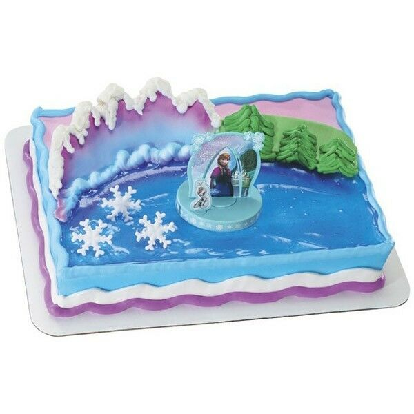 Disney Frozen Cupcake Cake Topper Decorating Supplies Kit Anna And
