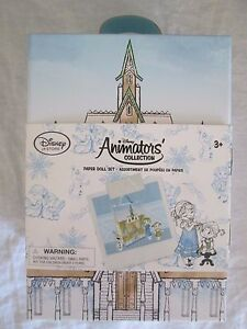 Disney Store Animators Collection Frozen Paper Doll Set Child Anna Elsa in Box