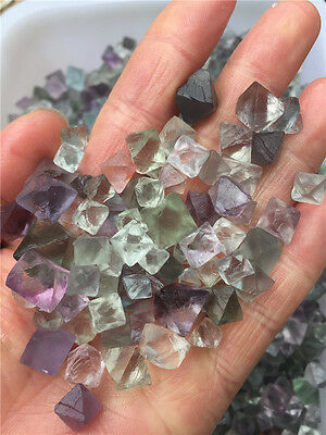 100g  Natural courful Fluorite Crystal Octahedrons Rock Specimen China/Wholesale