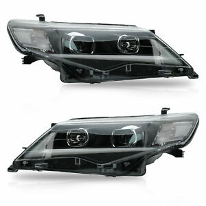 Custom-Projector-LED-Headlights-with-DRL-Sigle-Beam-for-2012-2014-Toyota-Camry