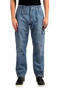 Dolce Gabbana Hombre Denim Azul Cargo Informal Pantalones Talla 28 30 32 Ebay