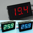 DC 0-30V 3 Colors LED Panel Voltage Meter 3-Digital Display Voltmeter 3 Wires