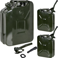 Lot 35gal 20l Metal Gasoline Gas Fuel Caddy Can Tank Emergency Backup Wholesale on Sale