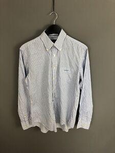 GANT-SQUAREMILE-TWILL-Shirt-Size-Medium-Striped-Great-Condition-Men-s
