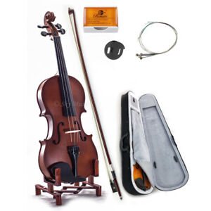 New-WOODEN-Student-Violin-VN101-1-10-Size-w-Case-Bow-Rosin-String-GREAT-GIFT