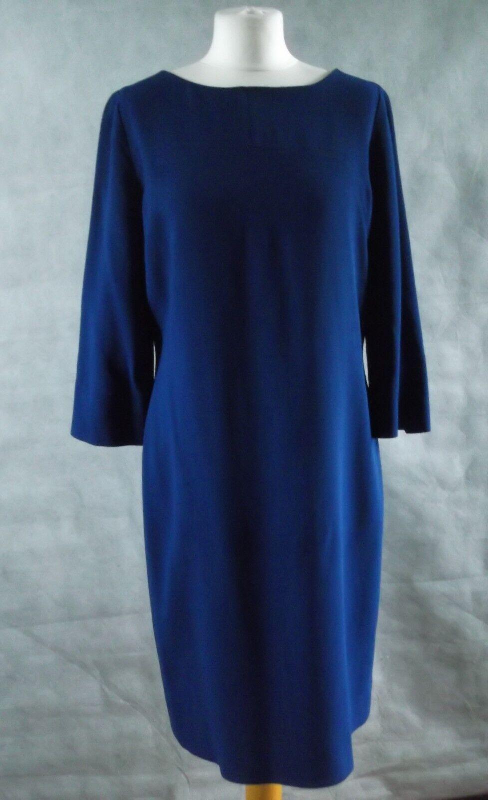 HOBBS HOBBS HOBBS size 14 bluee tunic dress wool long sleeved lined 3ae7c5