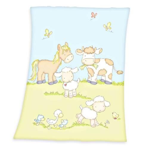 Herding Bauernhof Microfaserflausch-Decke Fleecedecke Kuscheldecke Babydecke