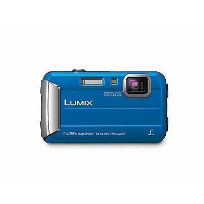Panasonic Lumix DMC-TS30 Digital Camera Blue DMCTS30A Waterproof Open Box Demo