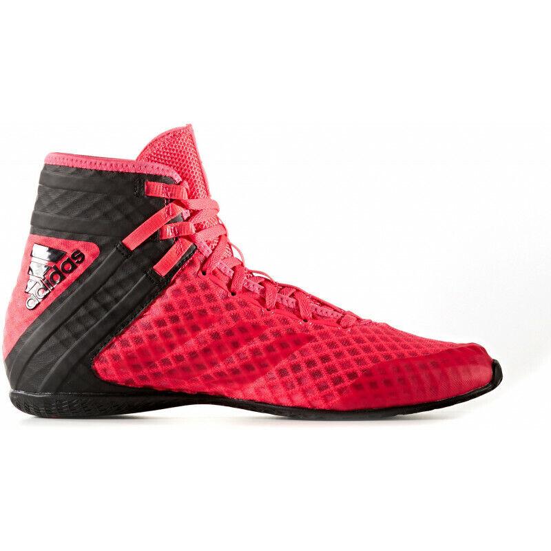 Mens Adidas Speedex 161 Boxing scarpe  rosso