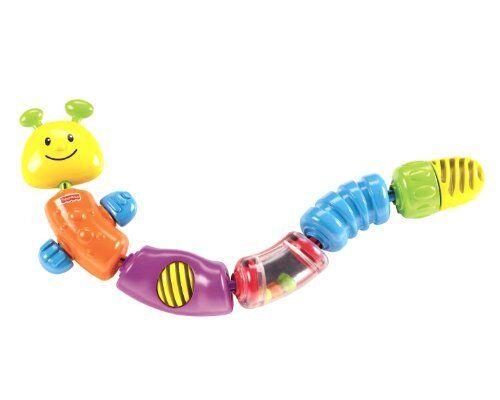 Free Shipping Fisher-Price Brilliant Basics Snap-Lock Caterpillar New