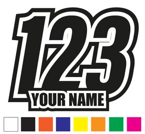 "3 Sets Race Numbers Motocross 6/"" 150mm Motorbike MX Track Kart Vinyl Sticker D3"
