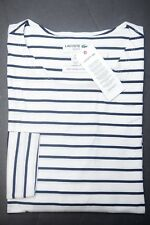 Lacoste Mens Slim Fit Navy Striped High Twisted Cotton Henley Shirt FIFA L 5
