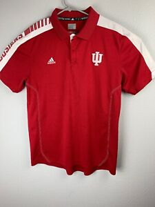 Adidas-Indiana-Hoosiers-Red-Polo-Player-Edition-Climalite-Men-s-L-Large