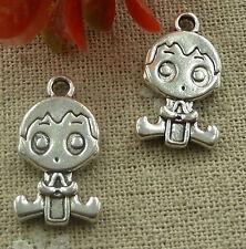 free ship 400 pcs  tibetan silver boy charms 18x8mm #3307