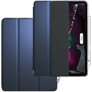 For-iPad-Pro-12-9-Case-Slim-Shell-w-Crystal-Clear-Back-Cover-Lumos-X-Navy-Blue