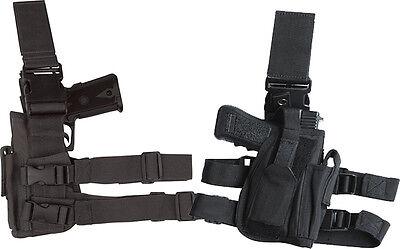 Universal Tactical GUN PISTOL Holster Drop LEFT Leg  BLACK POLICE SWAT ARMY
