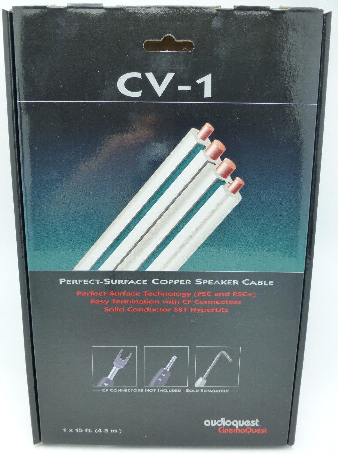 AudioQuest Cv-1 Speaker Cable Unterminated 15\' Solid Surface Copper ...
