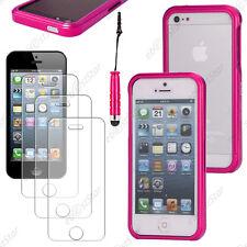 Housse Coque Etui Bumper BLADE Rose Apple iPhone SE 5S 5+Mini Stylet+3 Films