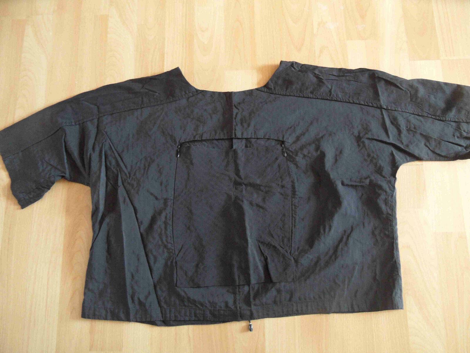 ABSOLUT by ZEBRA schönes Blausen-Shirt Lagenlook schwarz EG TOP (HMI 614)