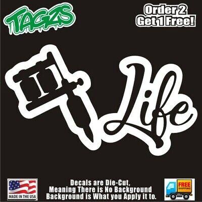 Slut Life Girl Funny DieCut Vinyl Window Decal Sticker Car Truck SUV JDM