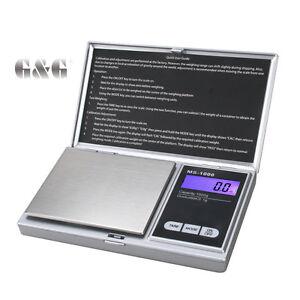 G-amp-G-MS-S-1000g-0-1g-Feinwaage-Kuechenwaage-Digital-Waage-Taschenwaage