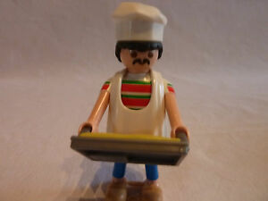 PLAYMOBIL-personnage-accessoire-metier-maison-chef-cuisinier-et-son-plat
