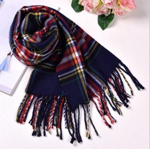 Warm Lady Women Scarf Shawl Checked Plaid Tartan Wrap Neck Stole Pashmina Soft