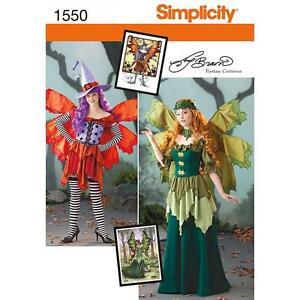 SIMPLICITY-COSTURA-FALTA-DE-PATRoN-039-DISFRAZ-HADA-amp-SOMBRERO-PARA-6-22-1550