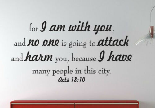 Bible Vinyl Wall Decal Quotes Words Sayings Lettering Removable Home Sticker