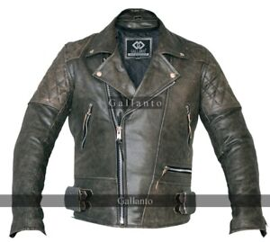 Classic-Motorcycle-Motorbiker-Distressed-Leather-Jacket-Diamond-Amoured-Stonewas