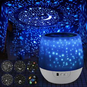 LED-Kinder-Nachtlicht-Einschlafhilfe-mit6Film-Projektor-Sternenhimmel-Nachtlampe