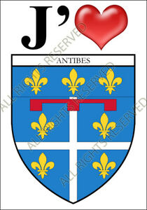 1 NANCY FRANCE BLASON BLAZON HERALDRY STICKER AUTOCOLLANT PVC