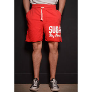 Roots of Fight Sugar Ray Leonard Slim Fit Shorts - Vintage Red