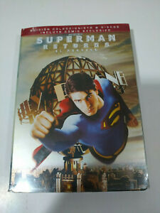 Superman-Returns-el-Regreso-Edicion-Coleccionista-2-x-DVD-Comic-Steelbook