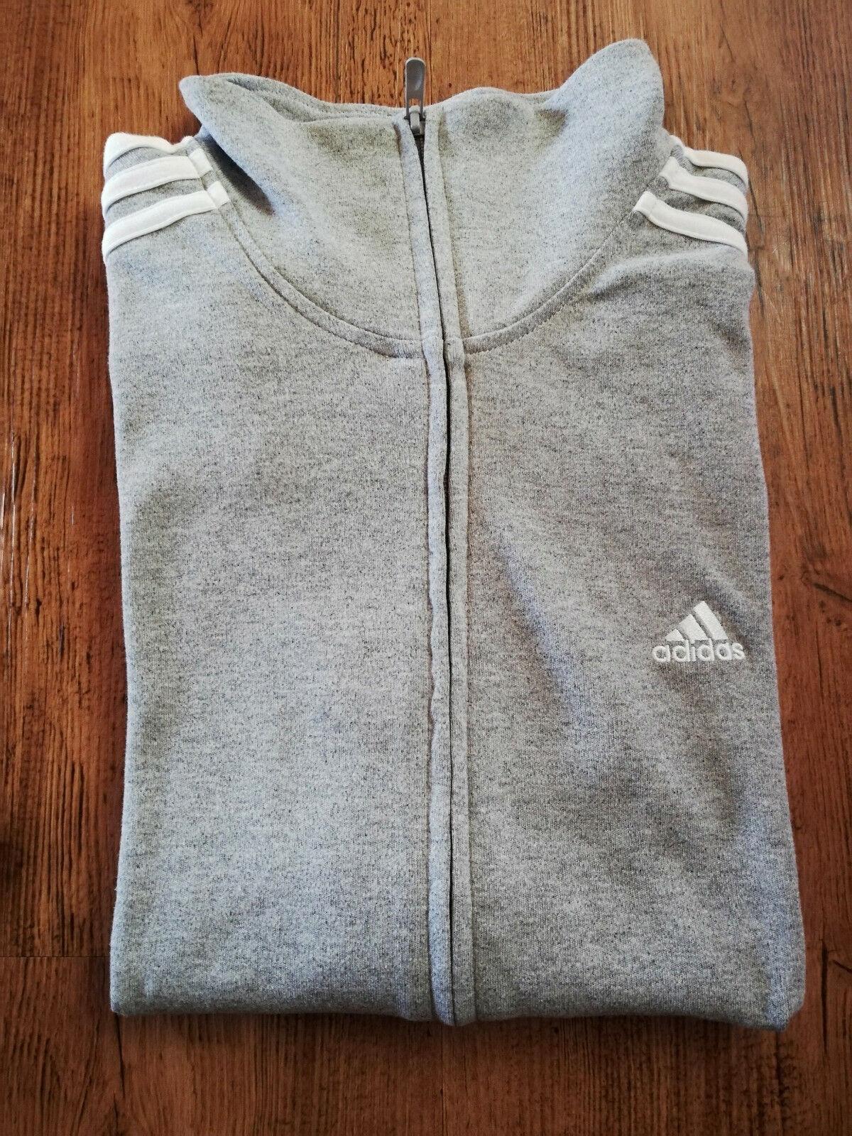 Adidas Sudadera Chaqueta Sport Mujer blancoo gris Chaqueta de Entrenamiento Nuevo