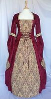 Medieval Dress Renaissance Pagan Wedding Gown Gothic Custom Made To Size
