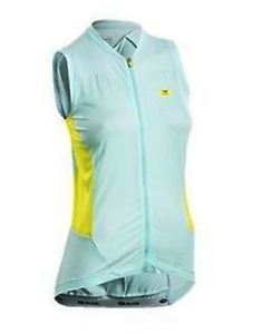 Sugoi Evolution Sleeveless Bike Jersey Women Light Green Yellow L