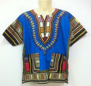 3892e55e3f8 Unisex African Dashiki Shirt caftan Hippie Boho Men Women Plus Size ...