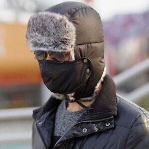Unisex-Winter-Trapper-Aviator-Trooper-Earflap-Warm-Ski-Hat-With-Mask-Fashion-New