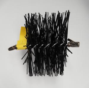 CFC041 200mm/8 inch dia Polypropylene Pull Thru Flue Mini Brush 100mm long
