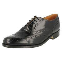 Loake '758B' Mens Black Leather Classic Brogue Shoes