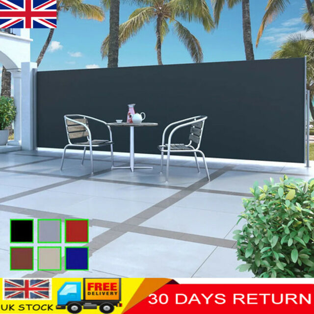cm Extendable Grey Sunshade ® Double Side Awning Blind Patio 180x 2x300 pro.tec