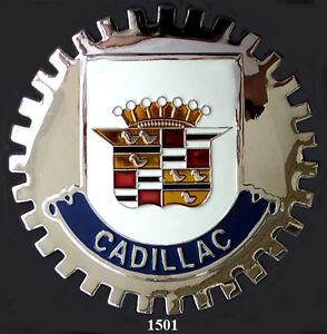 VINTAGE CAR GRILLE EMBLEM BADGES - CADILLAC | eBay