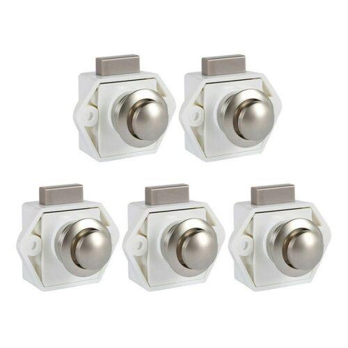 Motorhome Caravan Cupboard Drawer Door Push Button Knob Cabinet Latch Catch Lock