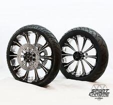 PM Revel Contrast Platinum Performance Machine Bagger Wheels Rims Black Chrome