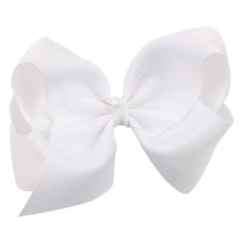 Baby Mädchen Damen Haarspange Bogen Knoten Satin Kopfschmuck Haarclip 12cm