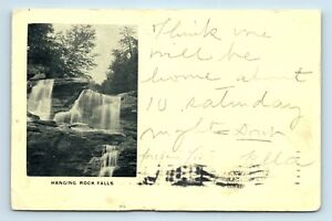 Ellenville-NY-c1906-HANGING-ROCK-FALLS-POSTCARD-HIGH-VIEW-DPO-M4