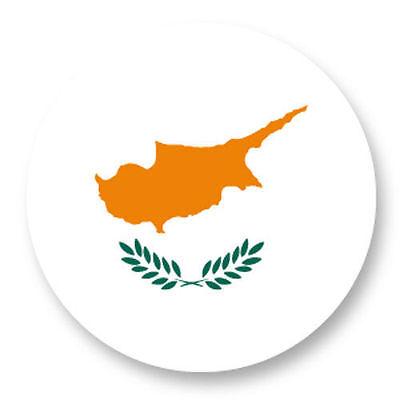 Magnet Aimant Frigo Ø38mm Drapeau Flag Echarpe Maillot Chypre Cyprus CY Nicosie