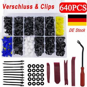 640-Auto-KFZ-Tuerverkleidung-Befestigung-Niete-Stossstange-Trim-Moulding-Clips-Set