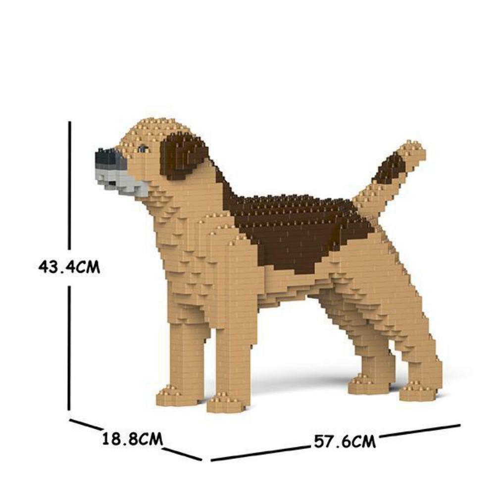 JEKCA Animal Building Blocks Kit for Kidults Border Terrier 01C-M02